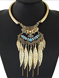 Da donna Collane Statement Turchese Turchese Lega Di tendenza stile della Boemia Gioielli Statement Europeo Oro Argento Gioielli Per Feste