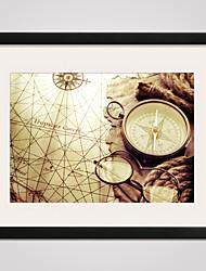 Пейзаж / Отдых Отпечаток в раме / Холст в раме Wall Art,ПВХ Черный Коврик входит в комплект с рамкой Wall Art