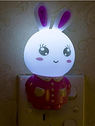 Creative Warm White Rabbit Light Sensor Relating to Baby Sleep Night Light