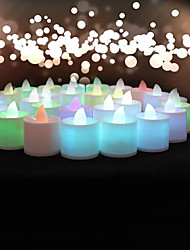 Wedding Décor 24pcs Color-changing Flameless LED Tealight Candles Light Battery for  Birthday Party Decoration