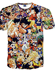 Inspiré par Dragon Ball Son Goku Manga Costumes de Cosplay Cosplay T-shirt Imprimé Points Polka Orange Manche Courtes Manches Ajustées
