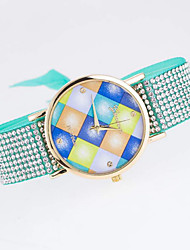 Momen's Fashion Simple  Multicolored Diamond Pattern Cloth Quartz Watches Cool Watches Unique Watches