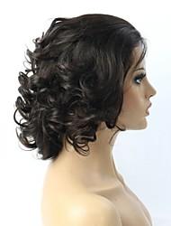 brazilian cheveux ondulés superbe front de dentelle / perruque de dentelle pleine pour les femmes