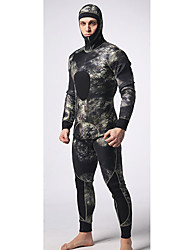 Men's Diving Suit Waterproof / Wearable /Thermal / Warm Wetsuits 3.5 to 5.4 mm Black Black S / M / L / XL / XXL Silk