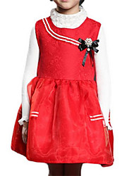 Girl's Blue / Red Dress Polyester Spring / Fall