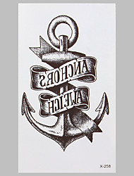 Fashion Tattoo Anchor Waterproof Tattoo Stickers