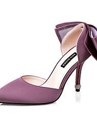 Women's Shoes Silk Stiletto Heel Heels Heels Casual Black / Pink / Purple / Red / Gray