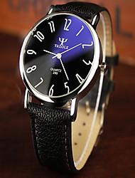 YAZOLE mens watch Vintage Blue Reflected Glass Big Dial Waterproof Quartz Watch montre homme wristwatch Wrist Watch Cool Watch Unique Watch