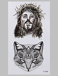 Fashion Tattoo  Fox And God Waterproof Tattoo Stickers