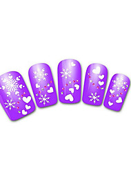 Lovely Purple Snow Leopard Lace Nail Jewelry