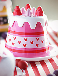 1PC 14*14*10.5cm GPPS Japanese Party Sweet Strawberry Cake Cup Tray + Cup Tray Package