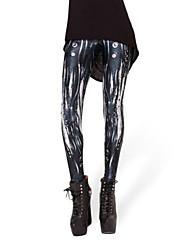 Belife Women's 3D Digital Print Tights Leggings,Polyester/Spandex Medium
