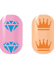 Blue/Orange Hollow Nail Stickers