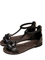 Черный / Белый-Женская обувь-Свадьба / Для офиса / Для праздника / На каждый день / Для занятий спортом / Для вечеринки / ужина-Дерматин-