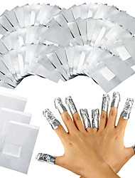 100Pcs/Lot Aluminium Foil Nail Art Soak Off Acrylic Gel Polish Nail Removal Wraps Remover Makeup Tool