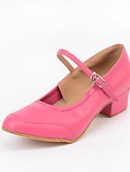 Customizable Women's Dance Shoes Synthetic Synthetic Latin Heels Customized Heel Practice Beginner Indoor Outdoor Performance Pink