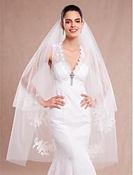 Wedding Veil Two-tier Birdcage Veils Cut Edge