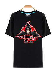 Inspired by Naruto Itachi Uchiha Anime Cosplay Costumes Cosplay T-shirt Print Black Short Sleeve Top