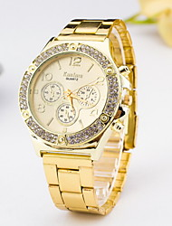 Women's Fashion Watch Simulated Diamond Watch Imitation Diamond Quartz Alloy Band Silver Gold Rose