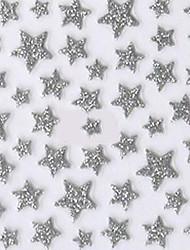 симпатичный серебряный западный стиль наклейки звезда 3d ногтей