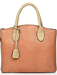 Women Shopper Tote-Green / Orange
