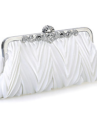Women Chiffon /Satin Minaudiere Shoulder Bag / Clutch / Evening Bag-White / Purple / Brown / Red / Silver / Black