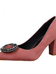 Women's Heels Summer Heels Fleece Casual Chunky Heel Others Black / Green / Pink / Red / Fuchsia Others