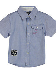 Boy's Cotton Shirt,Summer Geometric
