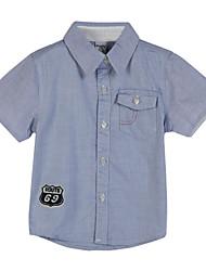 Boy's Cotton Shirt,Summer Geometric