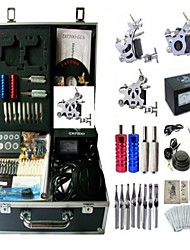 Basekey Tattoo Kit K0093 3Guns Machine With Power Supply Grips Cleaning Brush Needles
