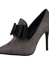 Women's Heels Summer Heels PU Casual Stiletto Heel Bowknot Black / Pink / Red / Gray / Fuchsia Others