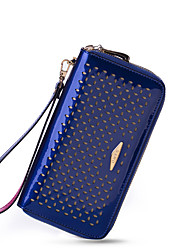 NAWO Women Cowhide Clutch Blue-N252031