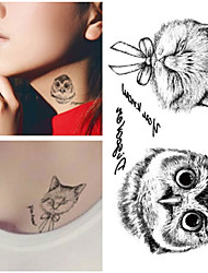 Fox And Owl Tattoos Temporary Tattoo Sticker Body Art Tattoos Water Transfer Fake Tattoo Stickers Waterproof Chest Wrist