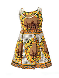 Girl's Dress,Cotton Summer Red / Yellow