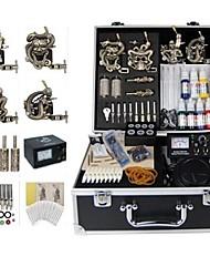 basekey tatouage kit machine jhk0174 s 4 avec poignées d'alimentation de nettoyage des aiguilles d'encre brosse
