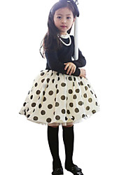 Girl's Casual/Daily Dress,Cotton Fall / Spring Black / Red