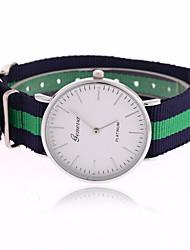 Mulheres Relógio de Moda Quartzo Tecido Banda Riscas Cores Múltiplas # 4 # 5 # 6 # 7 # 8