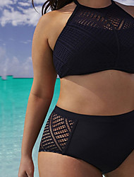Damen Bikini - Einfarbig Drahtlos Spitze / Polyester Bandeau