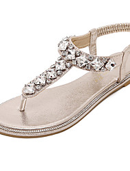 Women's Shoes Synthetic Flat Heel Slingback Sandals Dress Silver / Gold