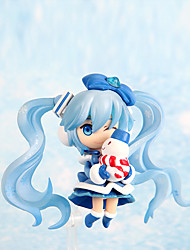 Lovely Snow Band Hatsune 7CM PVC Model Doll Toys Anime Action Figures