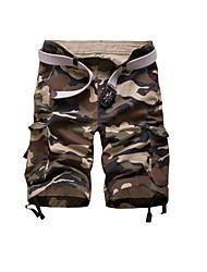 Pantaloni della tuta Uomo Casual Camouflage Cotone
