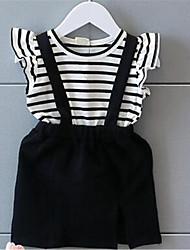 Vestido Chica de-Verano-Algodón-Negro