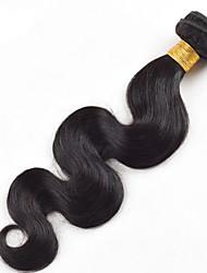 """1pcs alta qualidade / lot 50g 8 """"-26"""" peruano onda virgem cabelo corpo 1b # do cabelo humano natural preto tece"""