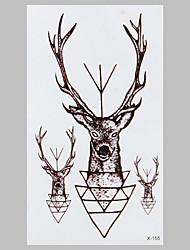 forma de tatuagem preta fadas veados tatuagem impermeável adesivos