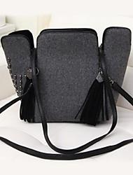Для женщин Полиуретан На каждый день / Для отдыха на природе Сумка-шоппер Серый