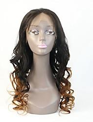 Brazilian Virgin Human Hair Two Tone #1B/30 Glueless Full /Lace Front Wig