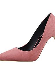 Women's Shoes Fleece Stiletto Heel Heels Heels Casual Black / Pink / Purple / Red / Gray / Multi-color