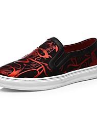 Sapatos Masculinos Mocassins Metalico / Preto e Vermelho / Preto e Branco Couro Escritório & Trabalho / Casual / Para Esporte
