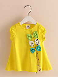 2016 New Hot Sale 3 Colors Bow T Shirt Women Cotton Short Sleeve Tee Girl T-Shirts