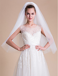 Wedding Veil Two-tier Blusher Veils / Elbow Veils / Fingertip Veils Cut Edge